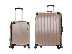 Rockland Luggage Santorini 20in., 28in. 2pc Expandable Polycarbonate Spinner Set