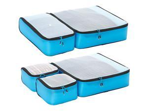 eBags Ultralight Packing Cubes - Super Packer 5pc Set - Blue