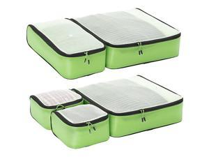 eBags Ultralight Packing Cubes - Super Packer 5pc Set - Green