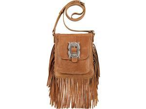 American West Eagle Feather Soft Crossbody Fringe Bag