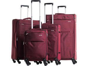 CalPak Topanga 4-Piece Expandable Softside Spinner Luggage
