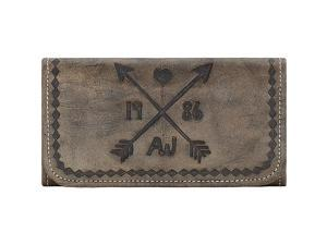 American West Cross My Heart Ladies Tri-Fold Clutch Wallet