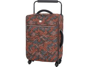 IT Luggage World's Lightest Quilted Camo 21.7 inch 4 Wheel Spinner Carry On