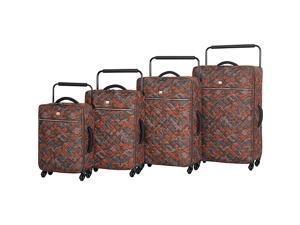 IT Luggage World's Lightest Quilted Camo 4 pc Spinner Set