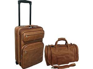 AmeriLeather Mixed Brown Leather Two Piece Set Traveler