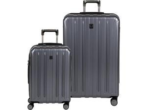 Delsey Helium Titanium Carry On and 29 Inch Spinner Luggage Set