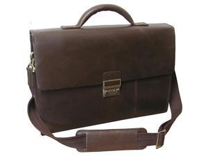 AmeriLeather Amerileather Distressed Brown Laptop Briefcase