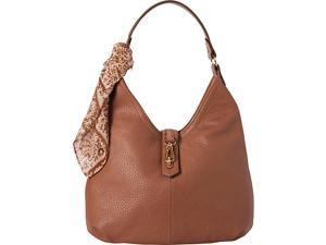 Tignanello Cargo Pebble Leather Hobo with Scarf