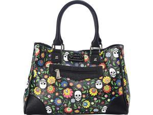Loungefly Floral & White Skull Print Tote