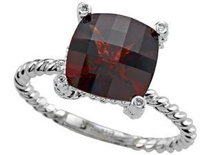 Genuine Garnet Ring by Effy Collection in 14 kt Yellow Gold Size 5.5