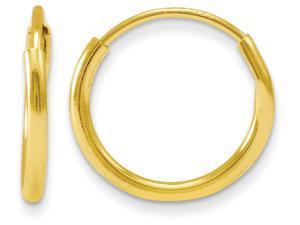 14k Madi K Endless Hoop Children Earrings in 14 kt Yellow Gold