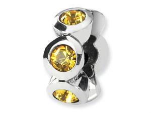 Reflections Sterling Silver November Swarovski Crystal Birth Month Bead / Charm