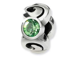Reflections Sterling Silver August Swarovski Crystal Birth Month Bead / Charm