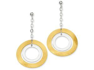 Sterling Silver and 18K Yellow Gold Plated Ball Post Dangle Earrings