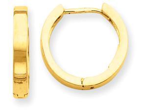 14k Hinged Hoop Earrings in 14 kt Yellow Gold