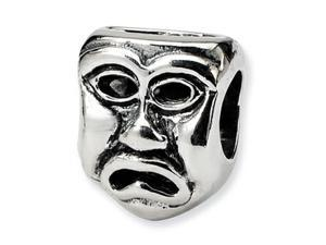 Reflections Sterling Silver Tragedy Mask Bead / Charm