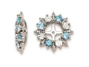 Sterling Silver Swiss Blue Topaz Earring Jackets
