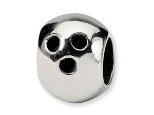 Reflections Sterling Silver Bowling Ball Bead / Charm