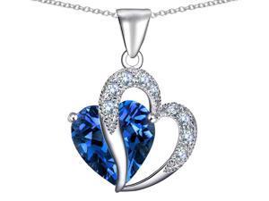 Star K 10.30 cttw Heart Shape 12mm Simulated Blue Topaz Pendant