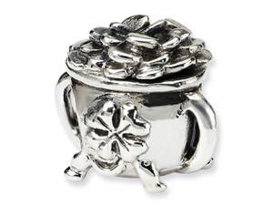Reflections Sterling Silver Pot-of-Gold Bead / Charm