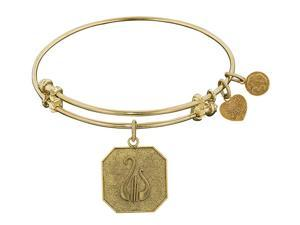 Angelica Collection Alpha Chi Omega Expandable Bangle in Brass