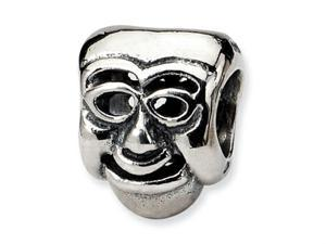 Reflections Sterling Silver Comedy Mask Bead / Charm