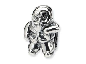 Reflections Sterling Silver Santa Claus Bead / Charm
