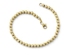 Finejewelers 14k Bright Cut Beaded Bracelet in 14 kt Yellow Gold