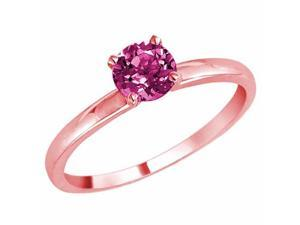 Ryan Jonathan Lumineux Solitaire Pink Sapphire Ring in 14K Rose Gold (6 mm)