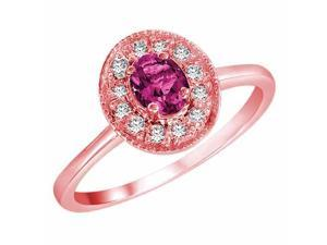 Ryan Jonathan Pink Sapphire and Diamond Ring in 14K Rose Gold