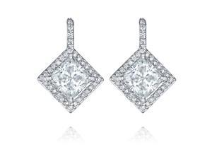 Ryan Jonathan GIA Certified Diamond Earrings 14K White Gold (3.32 cttw, F/VS)