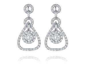 Ryan Jonathan Diamond Tear Drop Earrings in 18K White Gold (1.00 cttw)