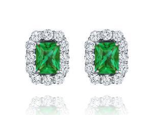 Ryan Jonathan Emerald and Diamond Earrings in Platinum (8.00 cttw)