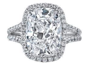 Ryan Jonathan GIA Certified Cushion Diamond Engagement Ring in Platinum (2.77 cttw, F/VS)