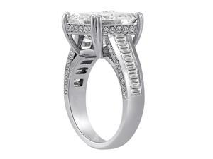 Ryan Jonathan GIA Certified Radiant Diamond Engagement Ring in Platinum (4.06 cttw, F/VS)