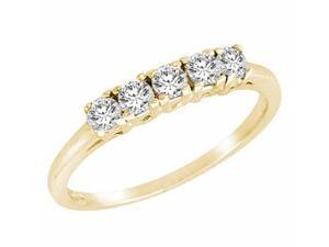 Ryan Jonathan 5 Stone Diamond Band Ring in 14K Yellow Gold