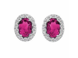 Ryan Jonathan Pink Tourmaline and Diamond Earrings in 14K White Gold