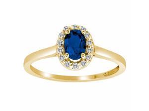 Ryan Jonathan Blue Sapphire and Diamond Ring in 14K Yellow Gold