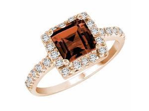 Ryan Jonathan Garnet and Diamond Ring in 14K Rose Gold