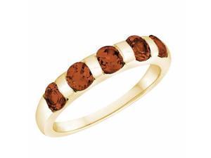 Ryan Jonathan Garnet Five Stone Ring in 14K Yellow Gold
