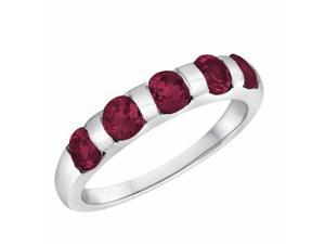 Ryan Jonathan Ruby Five Stone Ring in Platinum
