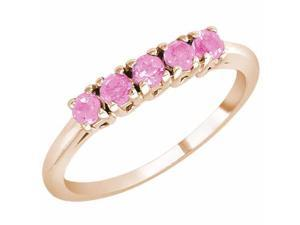 Ryan Jonathan 5 Stone Pink Sapphire Band Ring in 14K Rose Gold