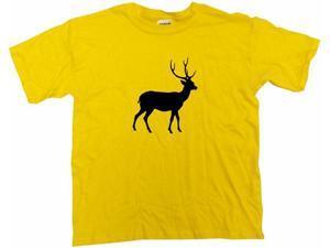Deer With Antlers Silhouette Logo Kids T Shirt