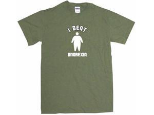 I Beat Anorexia Big Silhouette Logo Men's Short Sleeve Shirt