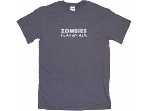 Zombies Fear My Aim Men's Short Sleeve Shirt