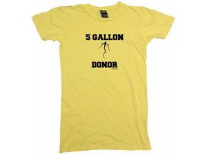 5 Gallon Sperm Donor Logo Women's Babydoll Petite Fit Tee Shirt
