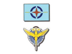 Gundam 00: Celestial Being and AEU Symbols (Set of 2) Pins