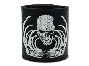 Death Note: Skull Embroidery Leather Wristband