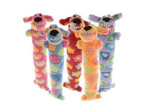 Multi Pet Pink Ribbon Loofa Dog 12 in Dog Toy