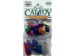 Vo-Toys Kitty Combo Mice Assorted 7 pack Cat Toy